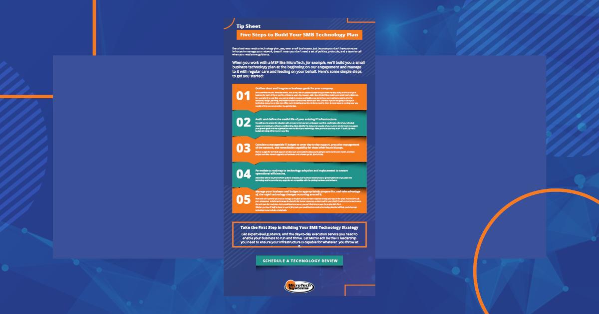 Tip Sheet: 5 Steps to Build an SMB Tech Plan